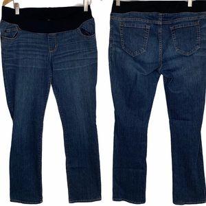 Liz Lange Maternity Dark Wash Jeans Sz 8 NWT